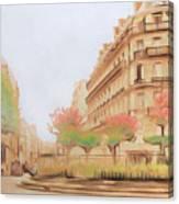 Paris, City Of Lovers Canvas Print