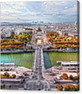 Paris City View 19 Art Canvas Print