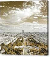 Paris City View 20 Sepia Canvas Print