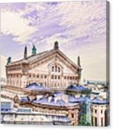 Paris City View 22 Art Canvas Print