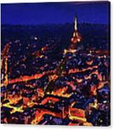 Paris City View Canvas Print