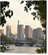 Paris Cityscape Across The Water Canvas Print