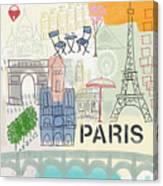 Paris Cityscape- Art By Linda Woods Canvas Print