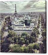 Paris Cityscape From Above, France Canvas Print
