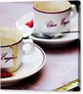 Paris Coffee Cups Canvas Print