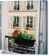 Paris Day Windowbox Canvas Print