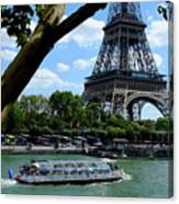 Paris Eiffel Boat Canvas Print