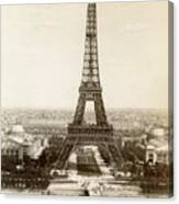 Paris: Eiffel Tower, 1900 Canvas Print