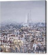 Paris Et Sa Dame De Fer Canvas Print