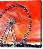 Paris Ferris Wheel Pop Art 2012 Canvas Print