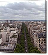 Paris From The Arch De Triumph Canvas Print