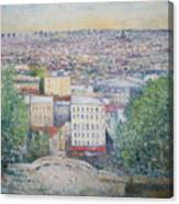 Paris From The Basilique Du Sacre Coeur Montmartre France 2003  Canvas Print