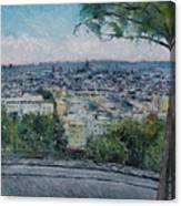 Paris From The Sacre Coeur Montmartre France 2016 Canvas Print