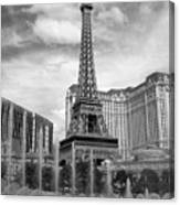 Paris Hotel - Las Vegas B-w Canvas Print
