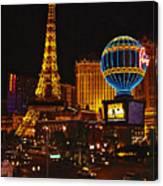 Paris In Las Vegas-nevada Canvas Print