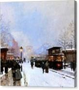 Paris In Winter Canvas Print