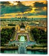 Paris Landscape Canvas Print
