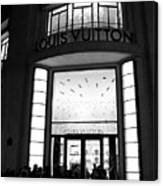 Paris Louis Vuitton Boutique - Louis Vuitton Paris Black And White Art Deco Canvas Print