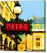 Paris Metro Stop Canvas Print