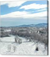 Paris Mountain Snow Canvas Print