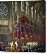 Paris: Notre Dame, 1841 Canvas Print