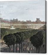 Paris: Palais Royal, 1821 Canvas Print