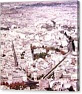 Paris Panorama 1955  Canvas Print