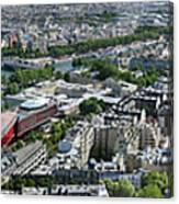 Paris Panorama From The Eiffel Tower Canvas Print