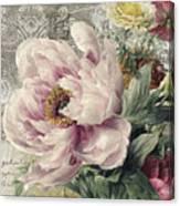Paris Peony Canvas Print