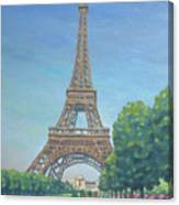 Paris Eiffel Tower Canvas Print