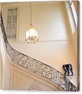 Paris Rodin Museum Staircase - Rod Iron Black Staircase Archictecture - Paris Museum Staircase Print Canvas Print