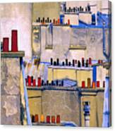 Paris Roof Tops 2 Canvas Print