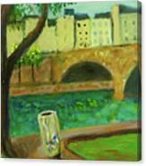 Paris Rubbish Canvas Print