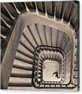 Paris Staircase - Sepia Canvas Print