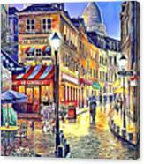 Paris Street Abstract 2 Canvas Print