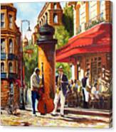 Paris, Street Musicians Canvas Print