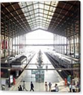 Paris Train Station Canvas Print