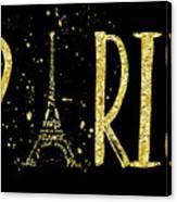 Paris Typografie - Gold Splashes Canvas Print