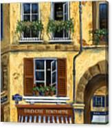 Parisian Bistro And Butcher Shop Canvas Print
