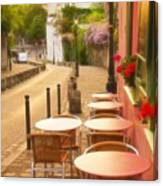 Parisian Cafe' Sunset Canvas Print