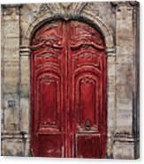 Parisian Door No.49 Canvas Print