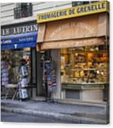Parisian Shops Canvas Print
