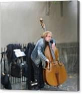 Parisian Street Musician Canvas Print