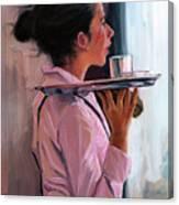 Parisian Waitress Canvas Print