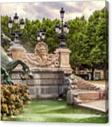Park And Fountains Canvas Print