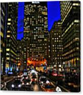 Park Avenue At Night Canvas Print