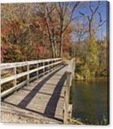 Park Bridge Autumn 2 Canvas Print