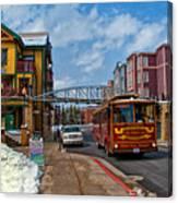 Park City Trolley Car Canvas Print