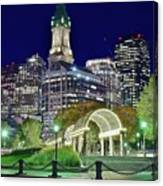 Park Entrance In Boston Canvas Print