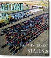 Park / Salt Lake City Rise/shine 1 W/text Canvas Print